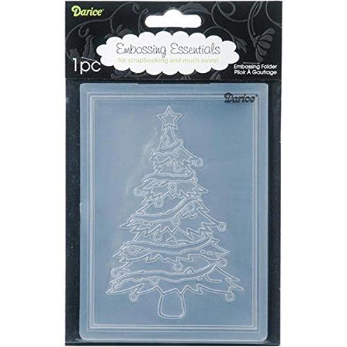 Amazon.com: Darice Embossing Folder, 4.25 by 5.75-Inch, Christmas Tree