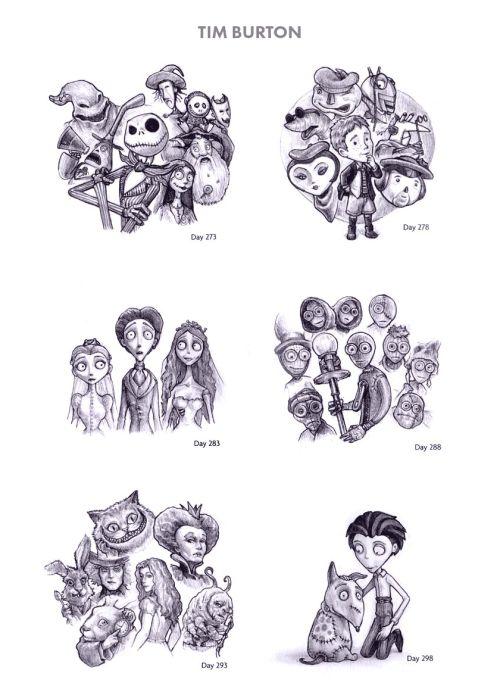 Tim Burton Sketches Pinterest: Lily Zarate