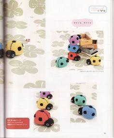 Божьи коровки, связанные крючком - Вязаные игрушки - Схемы вязания - Авторский проект Натальи Грухиной