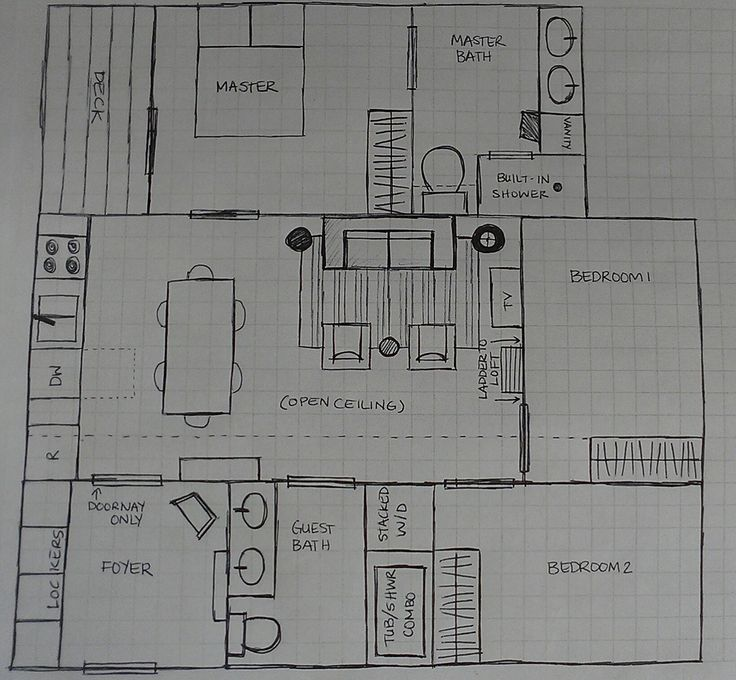 Small 3 Bedroom Loft House Plans 800 Square Feet Main Floor 896 Square Feet Including Loft 1 Square 1 Square Foo Tiny House Plans House Plans Loft House