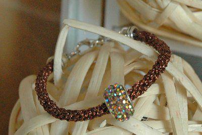 Bracciale Lussuria Bronzo - Bracelet Luxury Bronze - Tecnique Kumihimo