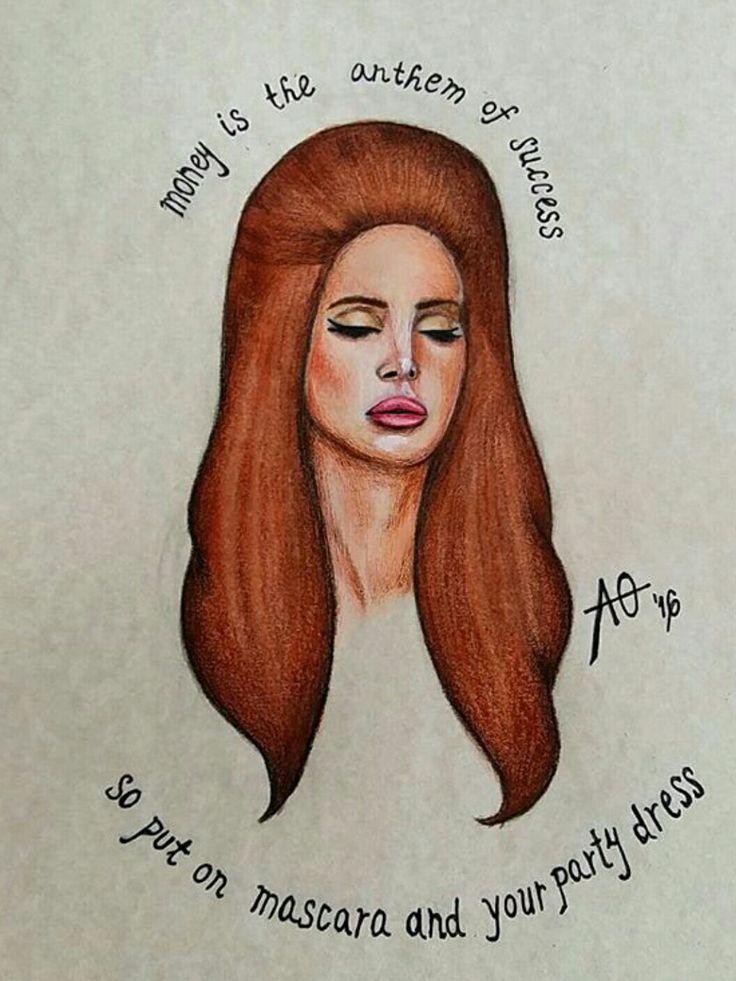 Lana Del Rey #National_Anthem #art by Alexa Odabasić