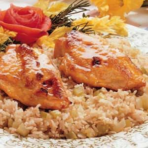 Honey Baked Chicken. If using skinless, boneless chicken breast bake for a total of 35 min.
