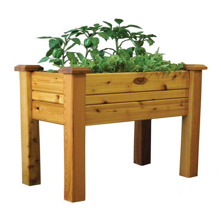 Have to have it. Gronomics Cedar Elevated Planter Box - $219.99 @hayneedle