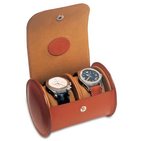 Underwood Travel Leather Watch Case - Round Double