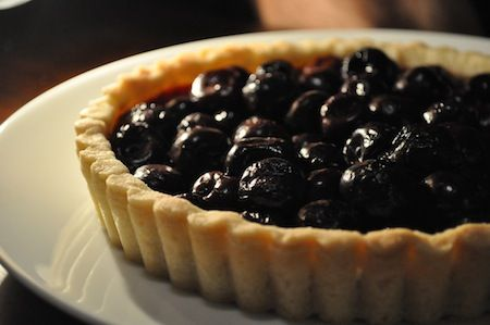 Dark Cherry Tart with Shortbread Crust (my favorite shortbread pie crust!)
