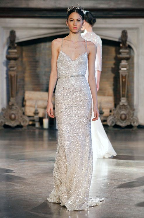 364 best Beaded Wedding Dresses images on Pinterest | Short wedding ...