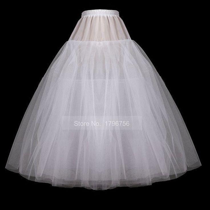 2017 aラインホワイト·タルのウェディングドレス安い白良い品質アイボリーペチコート
