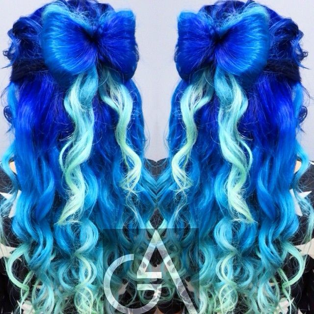 awesome Two tone royal blue dyed hair... by http://www.danahaircuts.xyz/scene-hair/two-tone-royal-blue-dyed-hair/