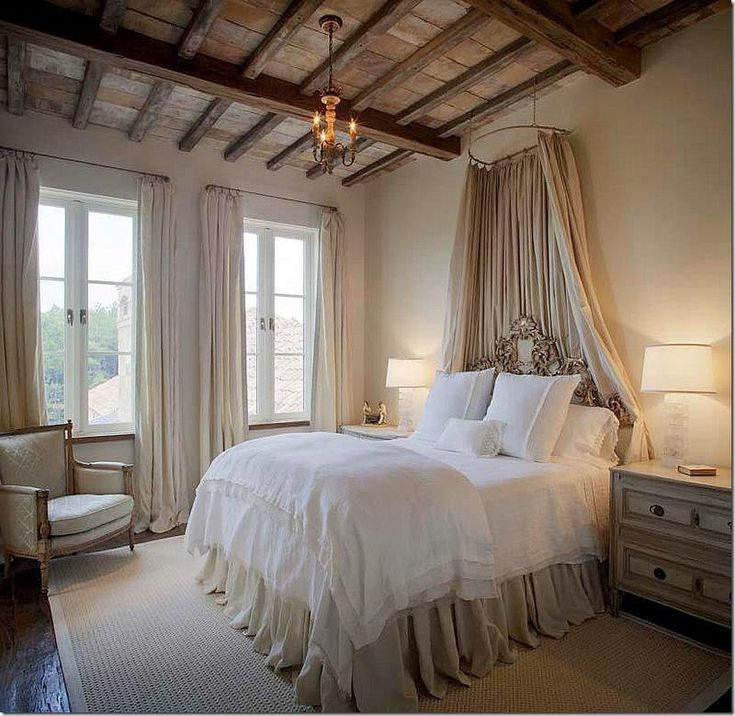 beautiful+neutral+bedroom+exposed+beams+canopy+ornate+headboard+via+ARWAV+on+FB.jpg 800×779 pixels