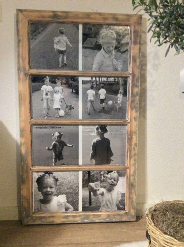 Van  oud raam naar foto lijst