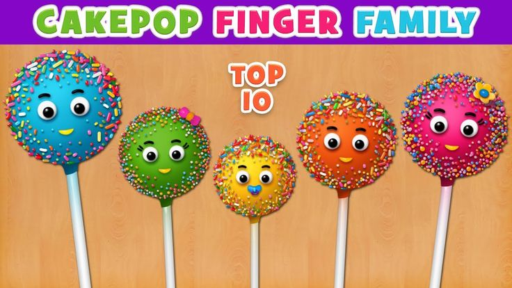 Cake Pop Finger Family Song | Top 10 Finger Family Songs