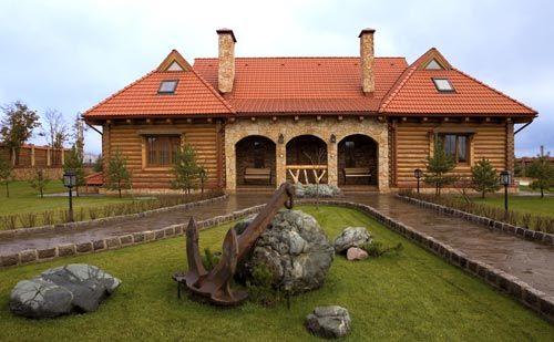 Охотничий дом из оцилиндрованного бревна   Дома из оцилиндрованного бревна   Журнал «Деревянные дома»