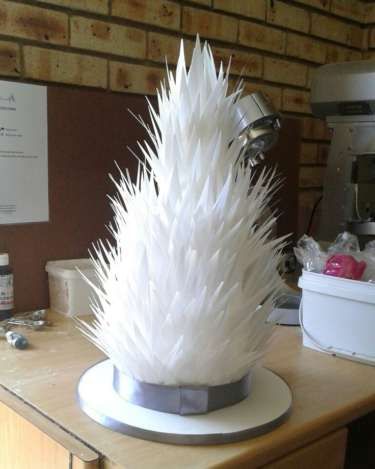 Rice paper feather wedding cake