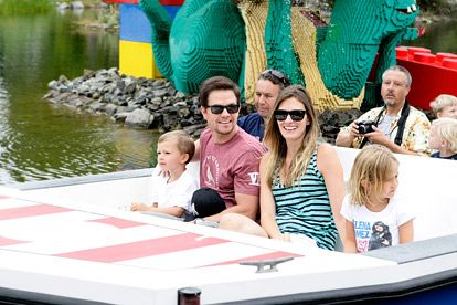 Mark Wahlberg and wife Rhea Durham took their children to Legoland in Carlsbad, Calif., last summer.