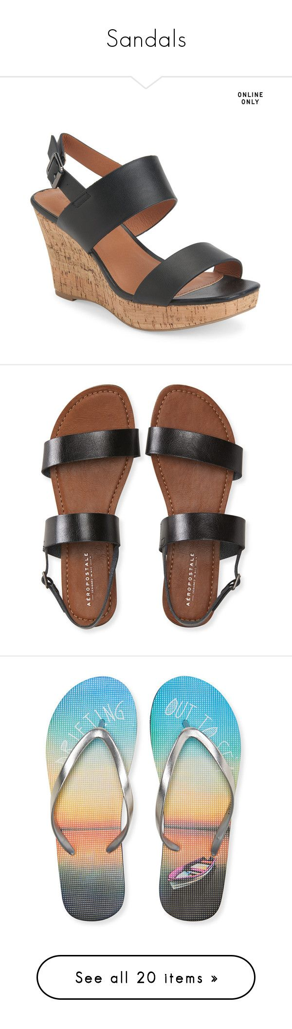 Sandals by switchfootgal on Polyvore featuring polyvore, women's fashion, shoes, sandals, black, wedge heel sandals, wedge sandals, high heel shoes, high heel sandals, buckle sandals, sling back sandals, aéropostale, sling back shoes, slingback sandals, double strap shoes, flip flops, navy, navy blue flip flops, navy sandals, navy blue sandals, aeropostale flip flops, navy flip flops, cognac, cognac sandals, cognac shoes, high heel wedge sandals, cognac high heel sandals, saddle leather…