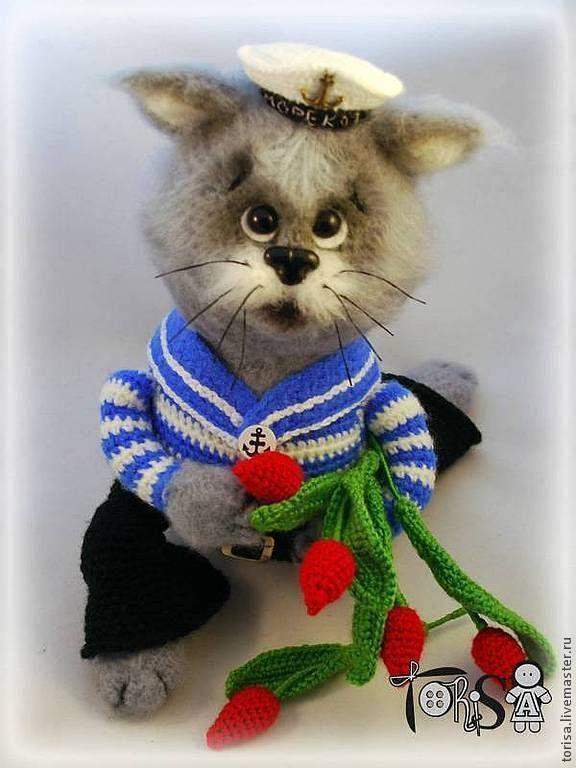 Купить Кот МореКот - кот-моряк, подарок подруге, подарок на 23 февраля