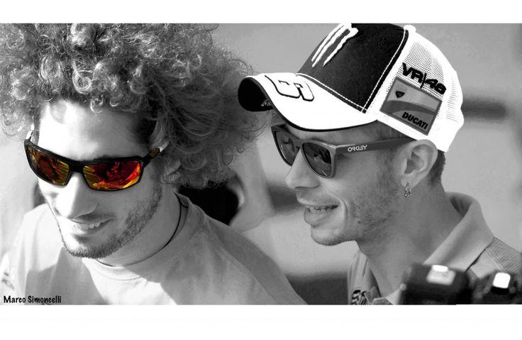 Marco Simoncelli #SIC58 & Valentino Rossi #VR46