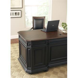 allegro cherryblack executive desk by riverside furniture