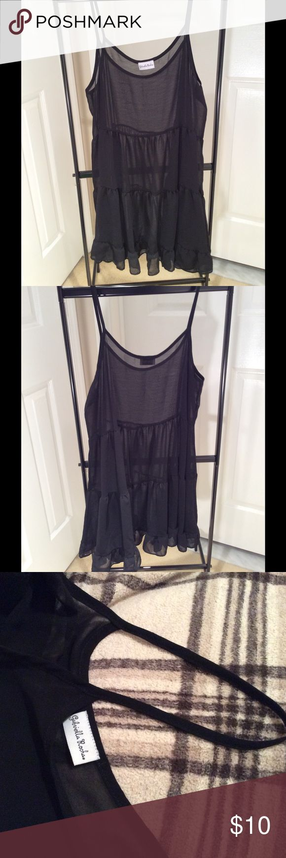 Gabriella Rocha Sheer Slip Dress Sheer slip dress. Worn once. Perfect shape. Gabriella Rocha Dresses
