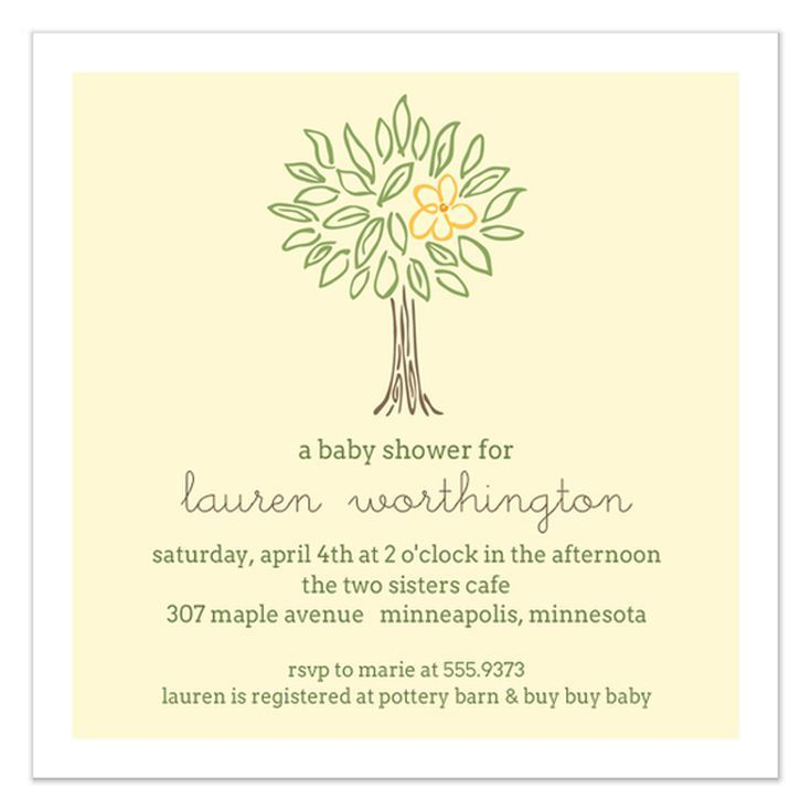 9 Free Online Baby Shower Invitations Your Guests Will Love: Family Tree Baby Shower Evite by The Co.Co. Studio