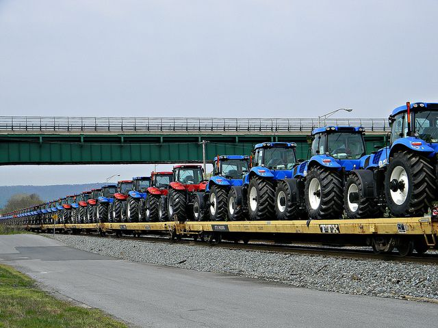 New Holland and Case Tractors