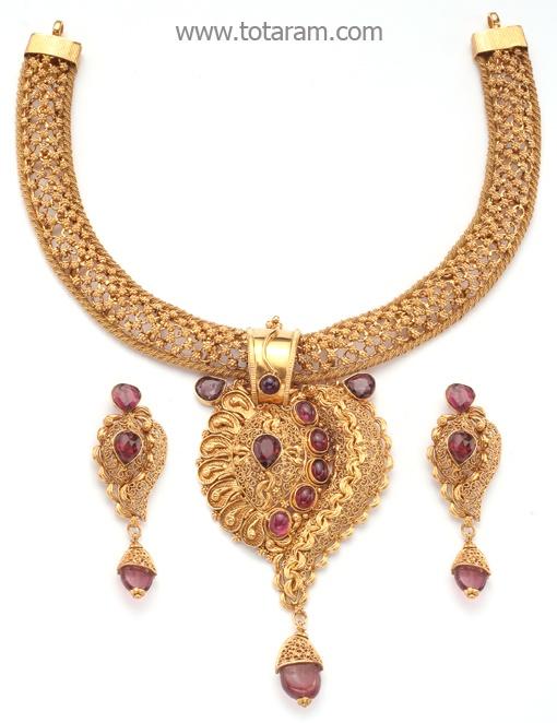Totaram Jewelers: Buy 22 karat Gold jewelry & Diamond jewellery from India: Necklace Sets