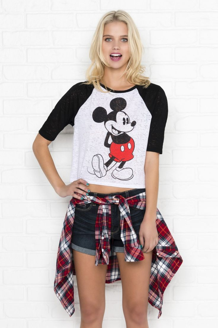 """Mickey Mouse"" Raglan Shirt."