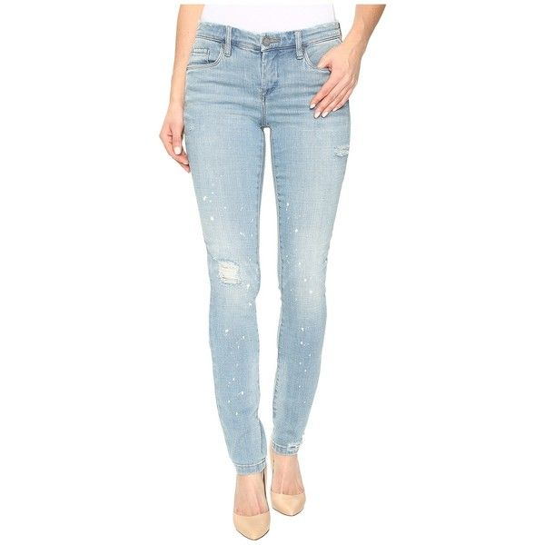 Blank NYC Washed Out Skinny Classique in Silent Shout (Silent Shout)... ($70) ❤ liked on Polyvore featuring jeans, destructed skinny jeans, ripped blue jeans, ripped jeans, ripped skinny jeans and distressed skinny jeans