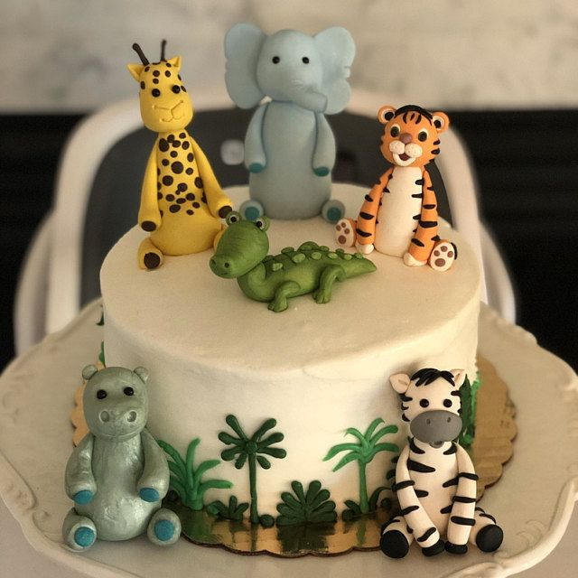 Elephant Cake Topper Elephant Birthday Cake Topper Baby Elephant 2nd Birthday First Birthday Girl Cake Topper Jungle Baby Shower