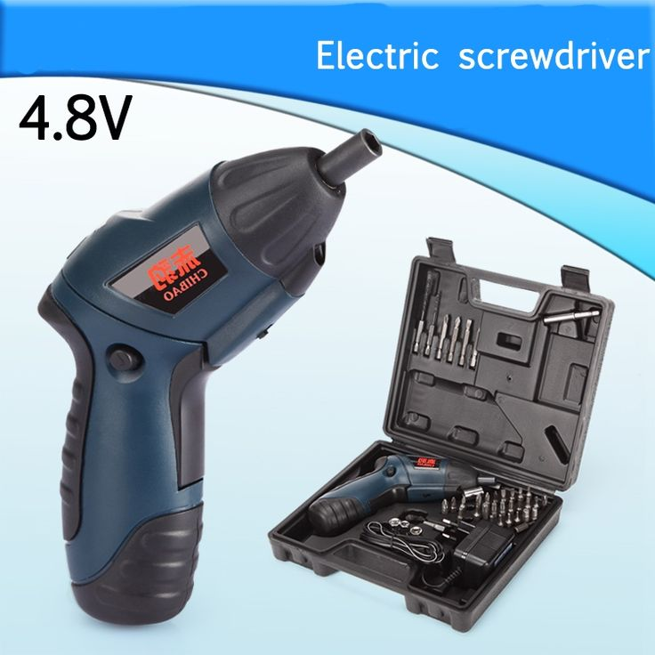 (33.83$)  Buy here  - 4.8V Electric screwdriver multifunctional household electric screwdriver with reversible rechargeable mini electric drill set