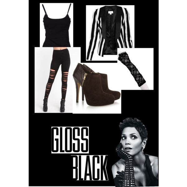 """Glossy Blacky"" by methecoolhunter on Polyvore"