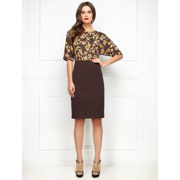 Трикотажная юбка для женщины, цвет темно-коричневый