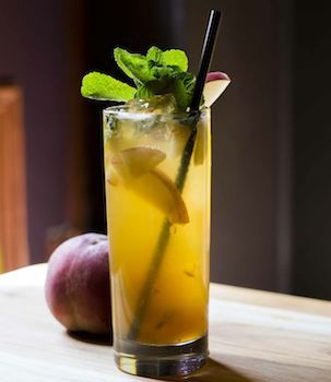 Get into the weekend swing with the Porch Zwing cocktail, with gin and Zwack Hungarian herbal liqueur.