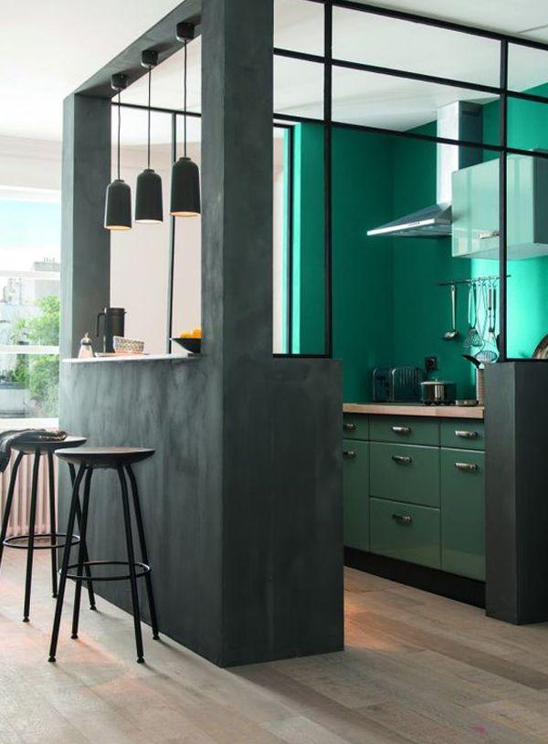 17 best Idées pour la maison images on Pinterest Home ideas - cuisine verte et blanche