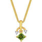 G Divas 18KT Yellow Gold Pendant with 0.39CT Diamonds - GIP00053