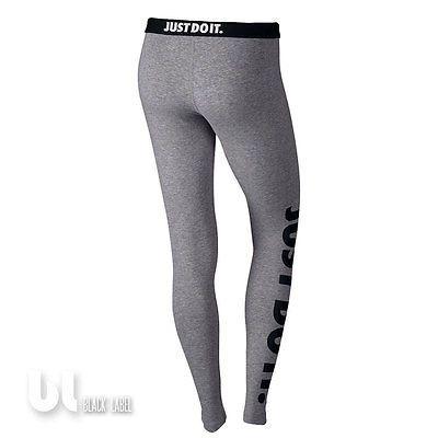 Nike Leg-A-See Just Do It Damen Sport Leggings Fitness Jogging Leggings Grau M