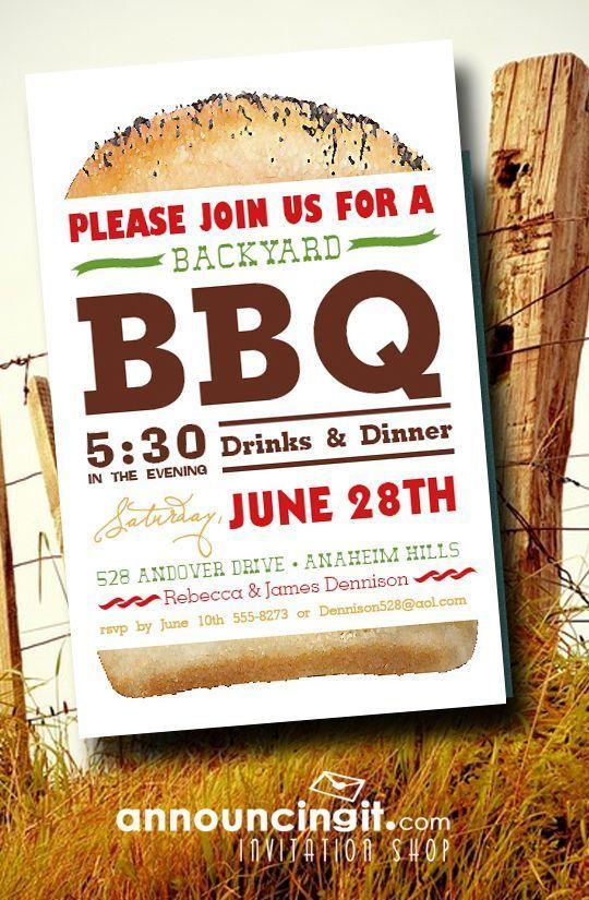 backyard bbq party invitations bbq party pinterest party bbq