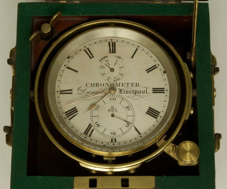 Marine Chronometer by Daniels of Liverpool   From a unique collection of antique and modern more antique and vintage finds at https://www.1stdibs.com/furniture/more-furniture-collectibles/more-antique-vintage-finds/