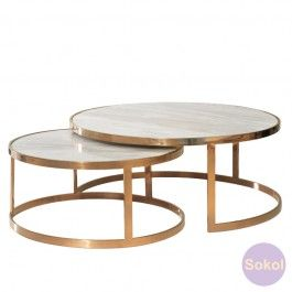 Allure Marble Nest of Coffee Tables
