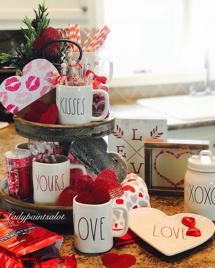 """22 Likes, 3 Comments - Laurie (@ladypaintsalot) on Instagram: """"Is it to early to play around with Valentine's Day decor???? I think I will eat all the candy…"""""""