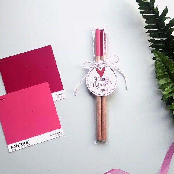 Valentine Colors Pantone Pencil Gift Set  set by ImaginateDesigns