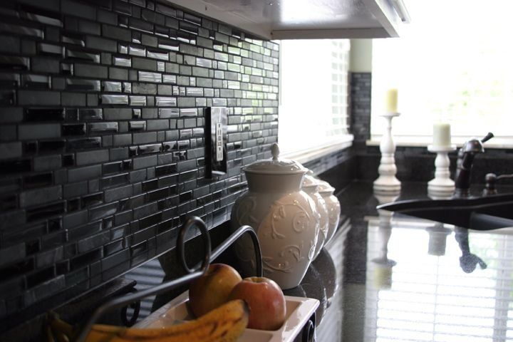 Mosaic Matte Black Kitchen Backsplash Metro Tile Utah 1000 In 2020 Black Kitchens Kitchen Backsplash Black Backsplash