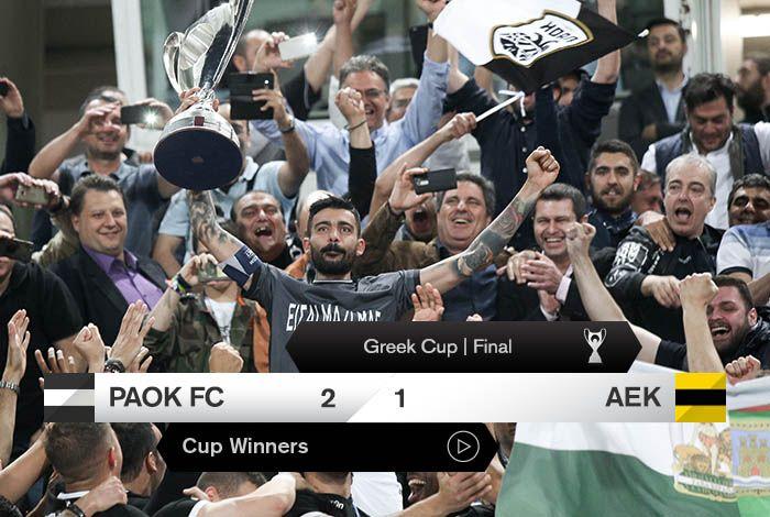 Η απονομή και τα πανηγύρια των Κυπελλούχων - PAOKFC