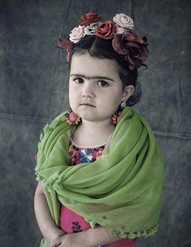 #Frida Kalho    #costumi di Halloween per #bambini