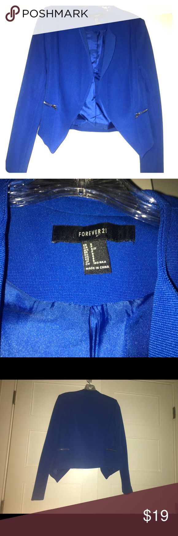 Royal Blue Open Front Blazer Only worn twice for work! This is blazer is in excellent condition Forever 21 Jackets & Coats Blazers