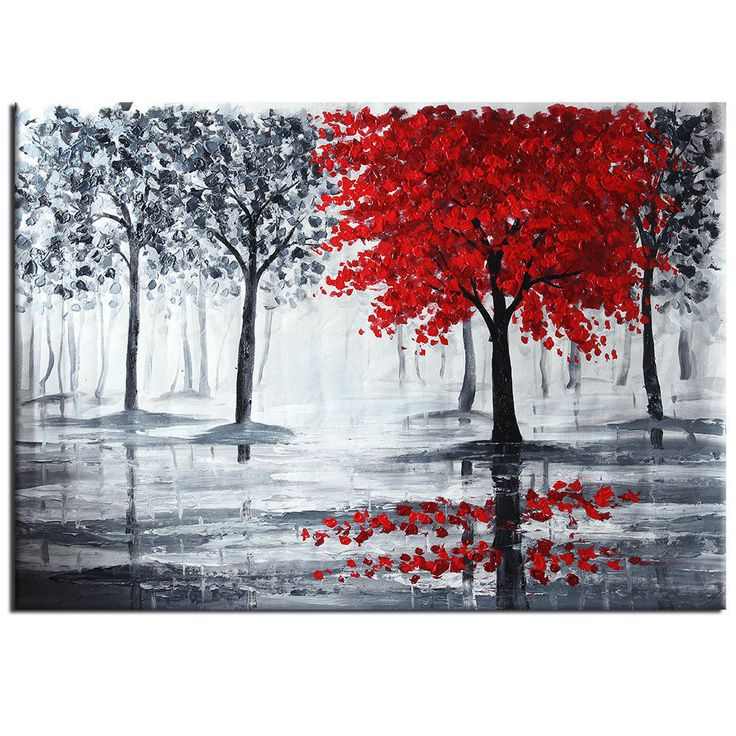 Just posted 100% Hand-painted.... A great read we think :).  http://www.gkandaa.net/products/100-hand-painted-oil-paintings-modern-abstract-landscape-red-tree-unframed-home-room-office-wall-art-decoration?utm_campaign=social_autopilot&utm_source=pin&utm_medium=pin