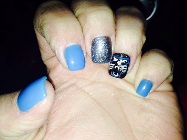 Goooo Carolina Panthers nails! - Get 20+ Carolina Panthers Nails Ideas On Pinterest Without Signing