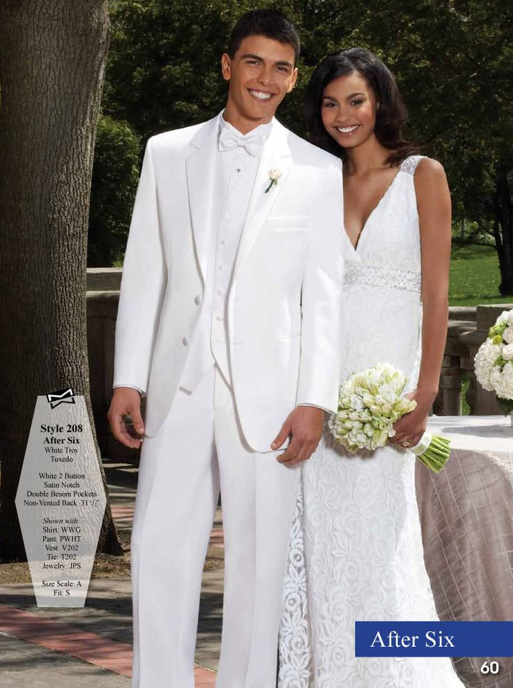 White Troy Tuxedo, from the Premier Collection.