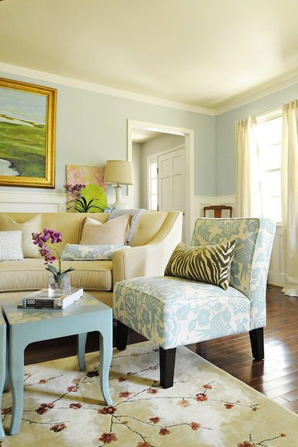 Here Light Blue Provides The Whimsy In A Cheerful But Quite Traditional Room See How Great It